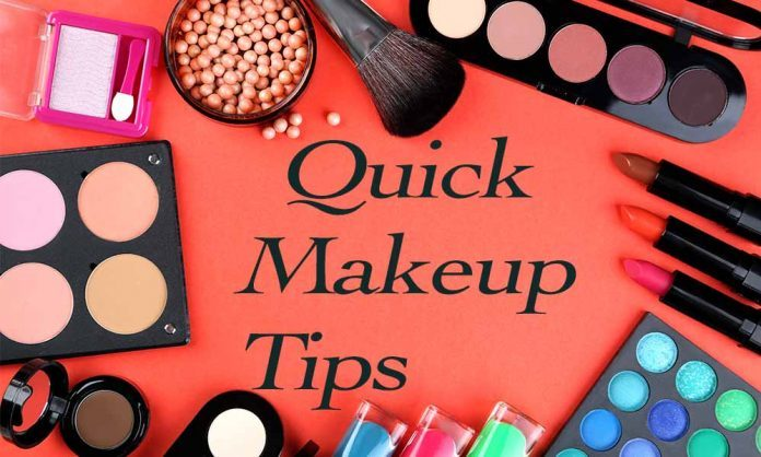 Putting on Makeup in a Jiffy